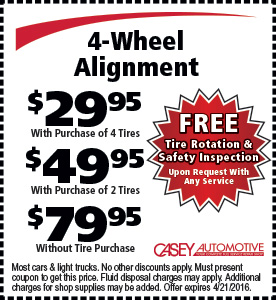 Tire Alignment Coupon >> 4 Wheel Alignment Coupon Casey Automotivecasey Automotive